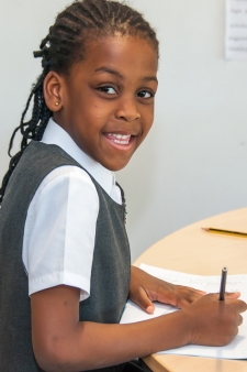 A pupil in a lesson at Willow Tree Primary School