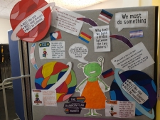 Alien Nation Display for Rainbow Flag at Willow Tree Primary