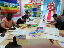 Rainbow Flag workshop at Willow Tree Primary