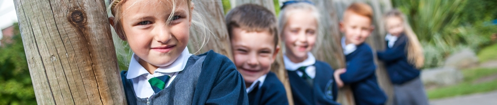 Pupils in the playground at Willow Tree Primary School