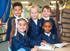 Pupils reading at Willow Tree Primary School